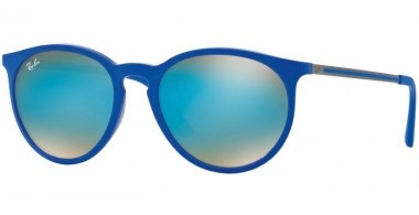 Sunglasses - Ray-Ban® - Ray-Ban® RB4274 - 6260B7 SHINY BLUE // MIRROR GRADIENT GREY