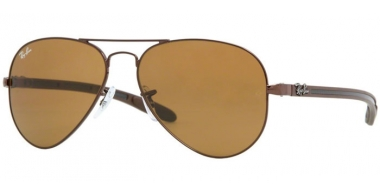 Sunglasses - Ray-Ban® - Ray-Ban® RB8307 AVIATOR CARBON FIBRE - 014 BROWN // CRYSTAL BROWN