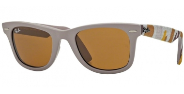 Sunglasses - Ray-Ban® - Ray-Ban® RB2140 WAYFARER URBAN CAMOUFLAGE - 6063 MATTE BEIGE // BROWN