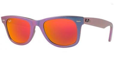 Gafas de Sol - Ray-Ban® - Ray-Ban® RB2140 WAYFARER METALLIC - 611169 METALLIC OIL //  BROWN MIRROR ORANGE