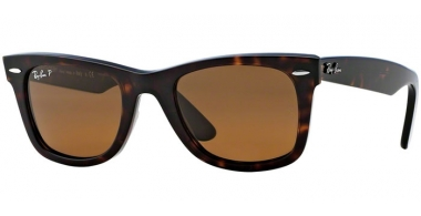 Sunglasses - Ray-Ban® - Ray-Ban® RB2140 ORIGINAL WAYFARER - 902/57 TORTOISE // CRYSTAL BROWN POLARIZED