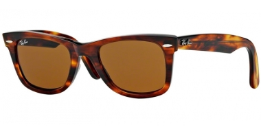 Sunglasses - Ray-Ban® - Ray-Ban® RB2140 ORIGINAL WAYFARER - 954 LIGHT TORTOISE // CRYSTAL BROWN