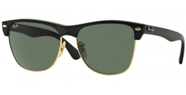 Gafas de Sol - Ray-Ban® - Ray-Ban® RB4175 CLUBMASTER OVERSIZED - 877 DEMI SHINY BLACK ARISTA // CRYSTAL GREEN