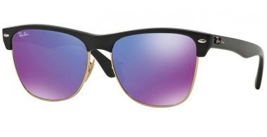 Gafas de Sol - Ray-Ban® - Ray-Ban® RB4175 CLUBMASTER OVERSIZED - 877/1M DEMI SHINY BLACK // GREY MIRROR PURPLE