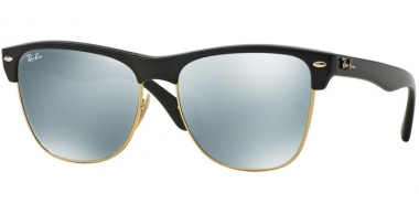 Gafas de Sol - Ray-Ban® - Ray-Ban® RB4175 CLUBMASTER OVERSIZED - 877/30 DEMI SHINY BLACK // LIGHT GREEN MIRROR SILVER
