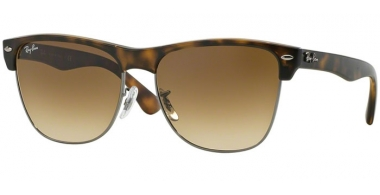 Sunglasses - Ray-Ban® - Ray-Ban® RB4175 CLUBMASTER OVERSIZED - 878/51 DEMI SHINY HAVANA GUNMETAL // CRYSTAL BROWN GRADIENT