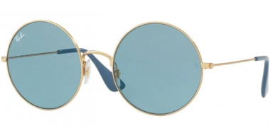 Lunettes de soleil - Ray-Ban® - Ray-Ban® RB3592 JA-JO - 001/F7 GOLD // LIGHT BLUE FLASH