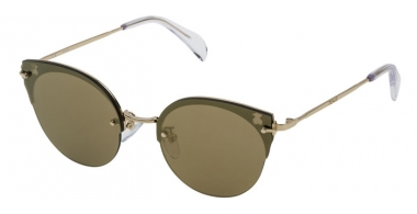 Sunglasses - Tous - STOA09 - 300G BROWN LIGHT GOLD // BROWN MIRROR GOLD