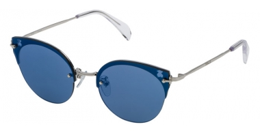 Sunglasses - Tous - STOA09 - 579B BLUE SILVER // GREY MIRROR BLUE