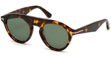 Sunglasses - Tom Ford - CHRISTOPHER-02 FT0633 - 52A  DARK HAVANA // GREY GREEN