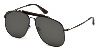 Sunglasses - Tom Ford - CONNOR-02 FT0557 - 01A  SHINY BLACK // GREY