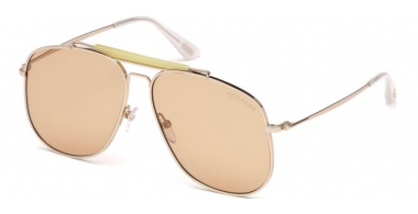 Sunglasses - Tom Ford - CONNOR-02 FT0557 - 28Y  GOLD // LIGHT BROWN