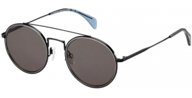 Sunglasses - Tommy Hilfiger - TH 1455/S - 006 (NR) SHINY BLACK // BROWN GREY