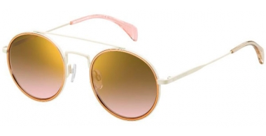 Sunglasses - Tommy Hilfiger - TH 1455/S - U1Y (JM) STEEL METAL CREAM // BROWN PINK GOLD MIRROR GRADIENT