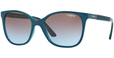 Sunglasses - Vogue - VO5032S - 246948 TOP PETROLEUM TRASPARENT GREEN // AZURE GRADIENT PINK GRADIENT BROWN
