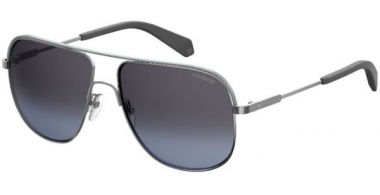 Sunglasses - Polaroid - PLD 2055/S - 6LB (1A) RUTHENIUM // SILVER GRADIENT POLARIZED