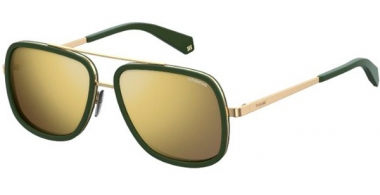 Sunglasses - Polaroid - PLD 6033/S - 1ED (LM) GREEN // GREY GOLD MIRROR POLARIZED