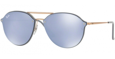 Gafas de Sol - Ray-Ban® - Ray-Ban® RB4292N BLAZE DOUBLEBRIDGE - 63261U LIGHT GREY // DARK VIOLET MIRROR SILVER