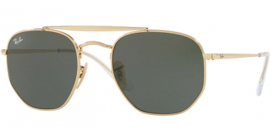 Gafas de Sol - Ray-Ban® - Ray-Ban® RB3648 MARSHAL - 001 GOLD // GREEN