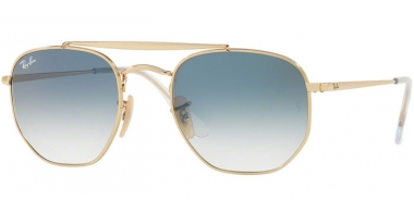 Gafas de Sol - Ray-Ban® - Ray-Ban® RB3648 MARSHAL - 001/3F GOLD // CLEAR GRADIENT BLUE