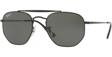 Gafas de Sol - Ray-Ban® - Ray-Ban® RB3648 MARSHAL - 002/58 BLACK // GREEN POLARIZED