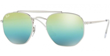 Gafas de Sol - Ray-Ban® - Ray-Ban® RB3648 MARSHAL - 003/I2 SILVER // GREEN MIRROR BLUE GRADIENT GREY