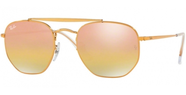 Gafas de Sol - Ray-Ban® - Ray-Ban® RB3648 MARSHAL - 9001I1 LIGHT BRONZE // GREEN MIRROR GOLD GRADIENT PINK
