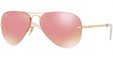 Gafas de Sol - Ray-Ban® - Ray-Ban® RB3449 - 001/E4 GOLD // PINK FLASH COOPER