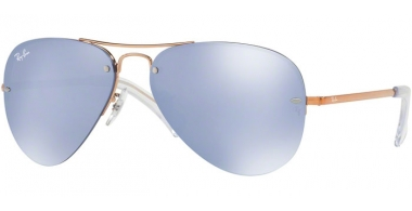 Gafas de Sol - Ray-Ban® - Ray-Ban® RB3449 - 90351U COPPER // BLUE FLASH SILVER