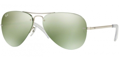 Gafas de Sol - Ray-Ban® - Ray-Ban® RB3449 - 904330 SILVER // GREEN FLASH SILVER