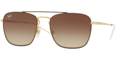 Gafas de Sol - Ray-Ban® - Ray-Ban® RB3588 - 905513 GOLD TOP  ON BROWN // BROWN GRADIENT DARK BROWN