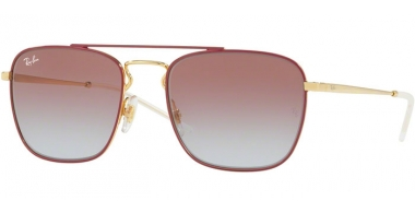 Gafas de Sol - Ray-Ban® - Ray-Ban® RB3588 - 9060I8 GOLD TOP ON BORDEAUX // LIGHT BLUE GRADIENT VIOLET