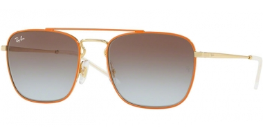 Gafas de Sol - Ray-Ban® - Ray-Ban® RB3588 - 90612W GOLD TOP ON ORANGE // LIGHT BLUE GRADIENT BROWN