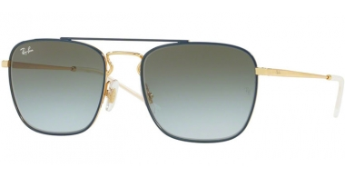 Gafas de Sol - Ray-Ban® - Ray-Ban® RB3588 - 9062I7 GOLD TOP ON BLUE // LIGHT BLUE GRADIENT GREEN