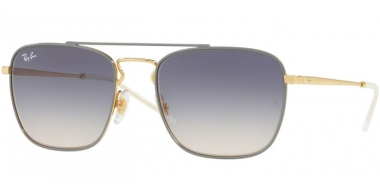 Gafas de Sol - Ray-Ban® - Ray-Ban® RB3588 - 9063I9 GOLD TOP ON LIGHT GREY // LIGHT BROWN GRADIENT BLUE