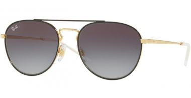 Sunglasses - Ray-Ban® - Ray-Ban® RB3589 - 90548G GOLD TOP ON BLACK // GREY GRADIENT DARK GREY