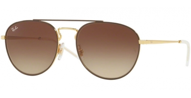 Sunglasses - Ray-Ban® - Ray-Ban® RB3589 - 905513 GOLD TOP ON BROWN // GRADIENT BROWN