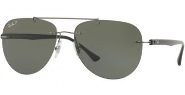 Gafas de Sol - Ray-Ban® - Ray-Ban® RB8059 - 004/9A GUNMETAL // GREEN POLARIZED