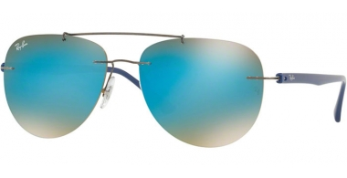 Gafas de Sol - Ray-Ban® - Ray-Ban® RB8059 - 004/B7 GUNMETAL // GRADIENT BROWN MIRROR BLUE