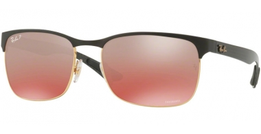Gafas de Sol - Ray-Ban® - Ray-Ban® RB8319CH - 9076K9 GOLD TOP ON MATTE BLACK // GREY MIRROR GRADIENT PINK POLARIZED