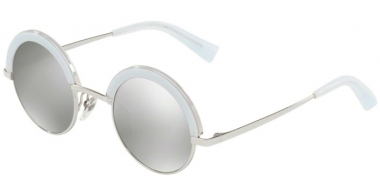 Sunglasses - Alain Mikli - A04003 631 - 21026G SHINY SILVER PONTILLE' WHITE // LIGHT GREY MIRROR SILVER