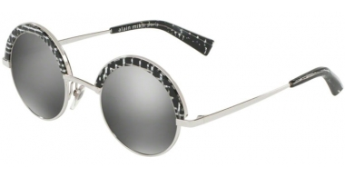 Sunglasses - Alain Mikli - A04003 631 - 27516G SHINY SILVER CRYSTAL BLACK // GREY MIRROR SILVER