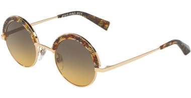 Sunglasses - Alain Mikli - A04003 631 - 410811 GOLD SHINY CHEVRON BROWN // YELLOW GRADIENT GRE