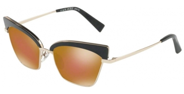 Sunglasses - Alain Mikli - A04005 ALOUETTE - 004/F9 BLACK GOLD // BROWN BRONZE MIRROR