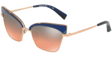 Gafas de Sol - Alain Mikli - A04005 ALOUETTE - 008/56 DENIM ROSE GOLD // ORANGE GRADIENT GREY  MIRROR SILVER