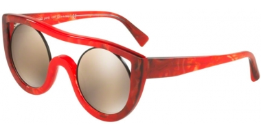 Sunglasses - Alain Mikli - A05034 AYER - 002/6G RED GREY // LIGHT BROWN MIRROR GOLD
