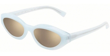 Sunglasses - Alain Mikli - A05038 DESIR - 005/5A WHITE POINTILLE // LIGHT BROWN MIRROR GOLD