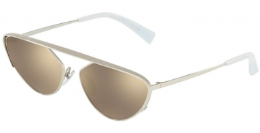 Gafas de Sol - Alain Mikli - A04012 NADEGE - 004/5A SILVER // LIGHT BROWN MIRROR GOLD