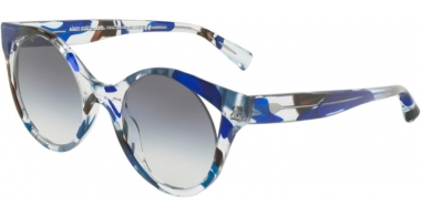 Sunglasses - Alain Mikli - A05033 RAYCE - 004/79 CRYSTAL WAVES BLUE BLACK // CLEAR GRADIENT BLUE