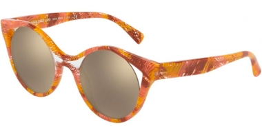 Sunglasses - Alain Mikli - A05033 RAYCE - 006/5A PINK LIGHT BROWN CRYSTAL // LIGHT BROWN MIRROR GOLD